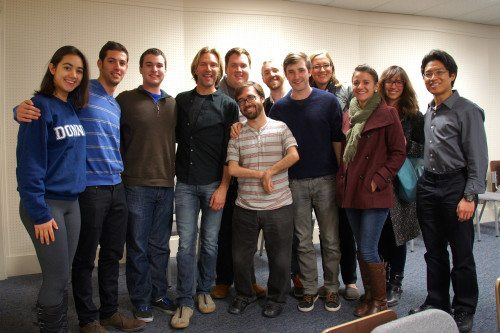 Chorale members at a Q&A session with Eric Whitacre in February 2015